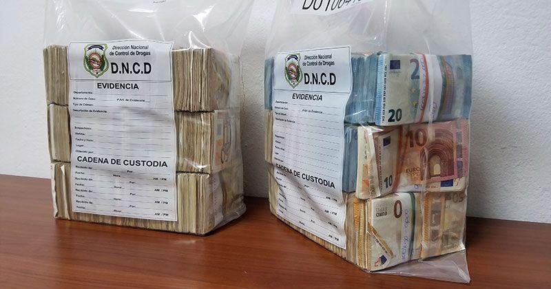 DNCD ocupa miles de euros y dólares en Puerto y avenida Luperón