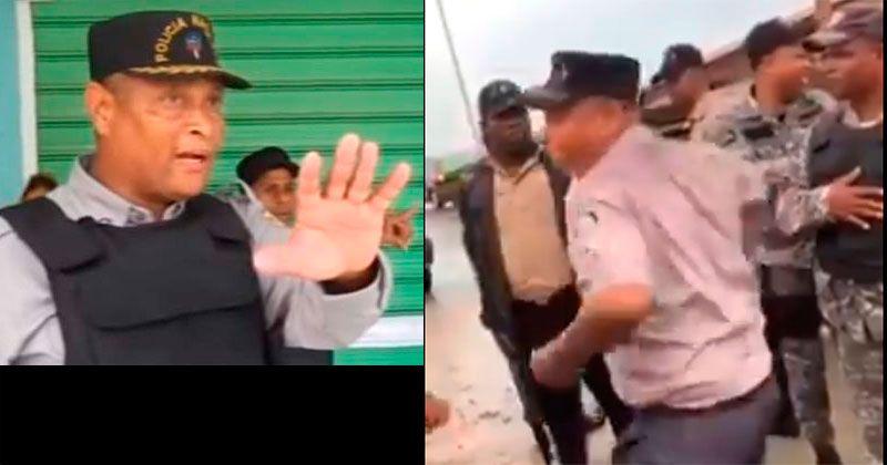 Policía suspende teniente coronel golpeó dirigente Derechos Humanos
