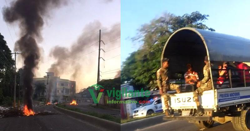 Violentas protestas en el sector Las Flores por terminación de escuela
