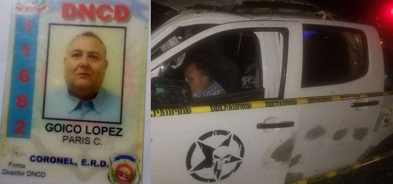 Coronel de la DNCD que murió en accidente iba al cumpleaños de su padre