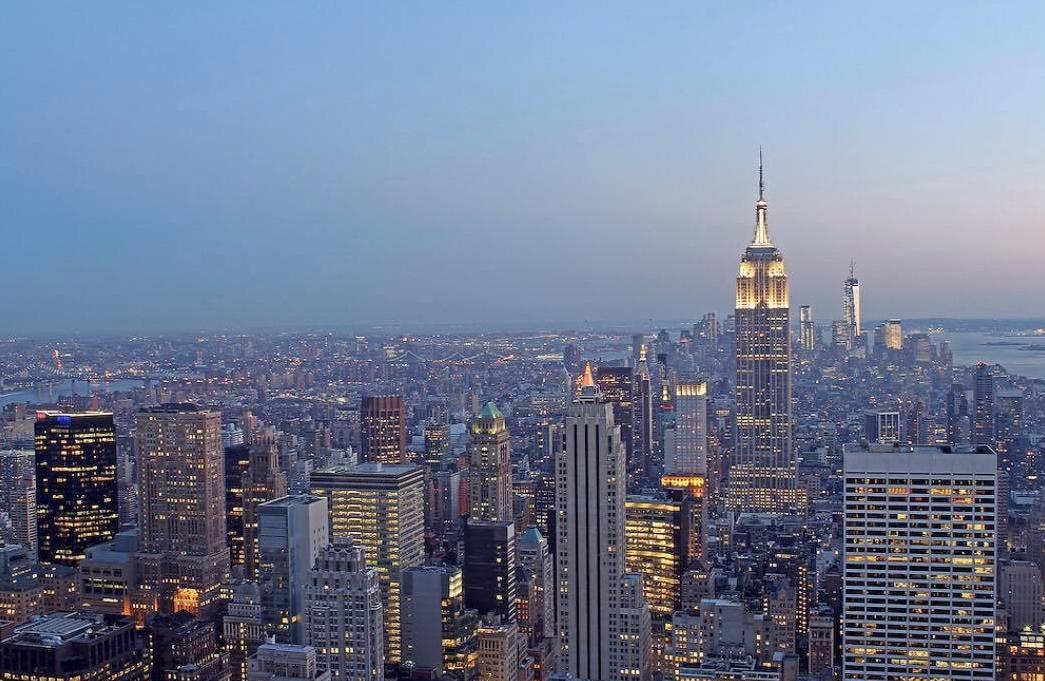 Beautiful NYC Skyline, Sunset