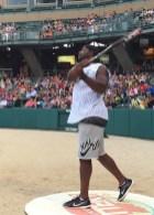 2015-06-04 Celebrity Softball - Dwayne Allen batter circle