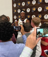 Myles Turner at Pacers Media Day 2017