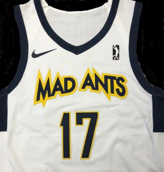 Mad Ants new uniform - white jersey front
