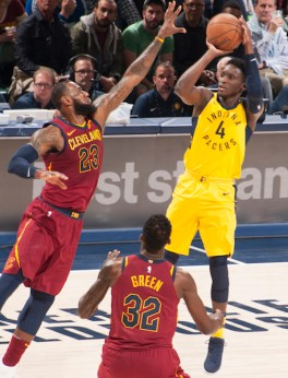 Victor Oladipo, LeBron James, Pacers, Cleveland Cavaliers, 2018 NBA Playoffs