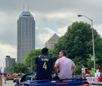 Victor Oladipo, Pacers, Indianapolis, 500 Festival Parade