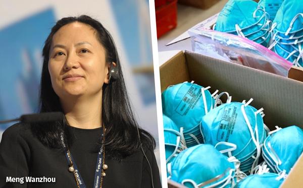 La diplomatie du masque : Mme Meng de Huawei contre des masques. Pourquoi pas ?