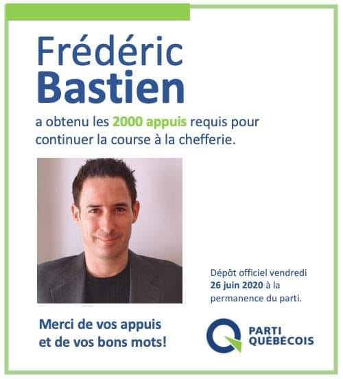 Frédéric Bastien officiellement dans la course à la chefferie du PQ