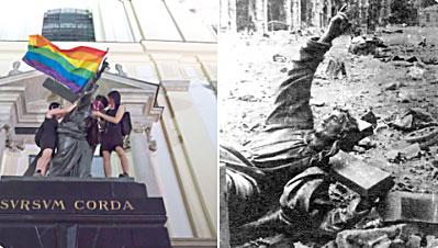 Des militants LGBT profanent une statue du Christ à Varsovie