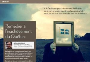 Remédier à l'inachèvement du Québec