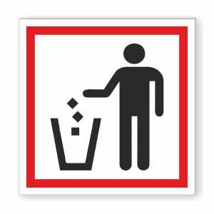 USE DUSTBIN Sign