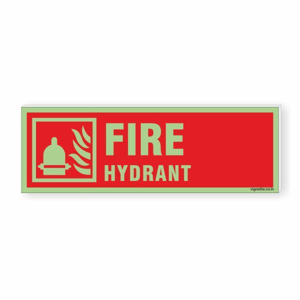 Glow in dark Fire Safety Sign