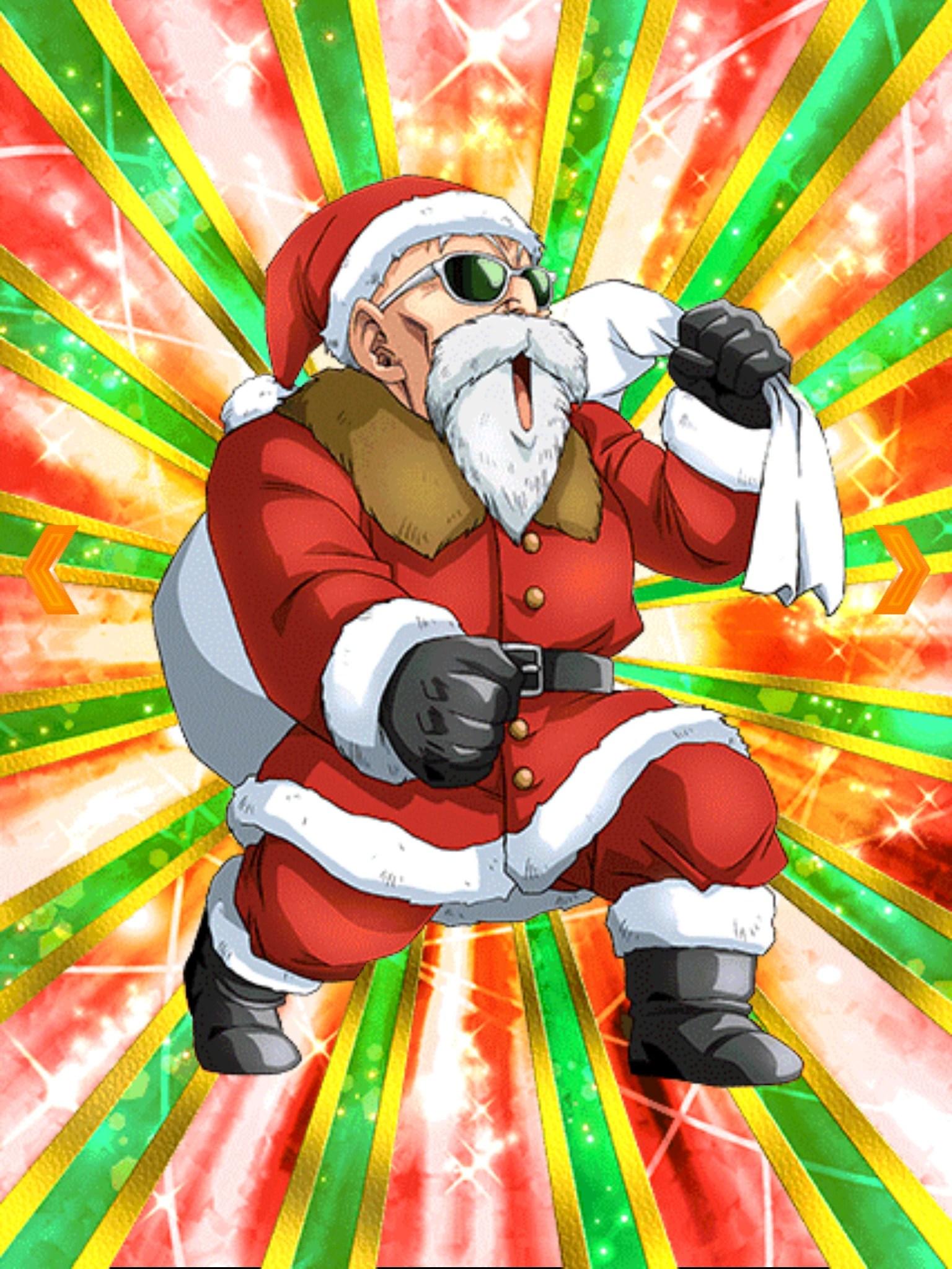 Thrilling Christmas Eve Master Roshi Santa Dragon Ball