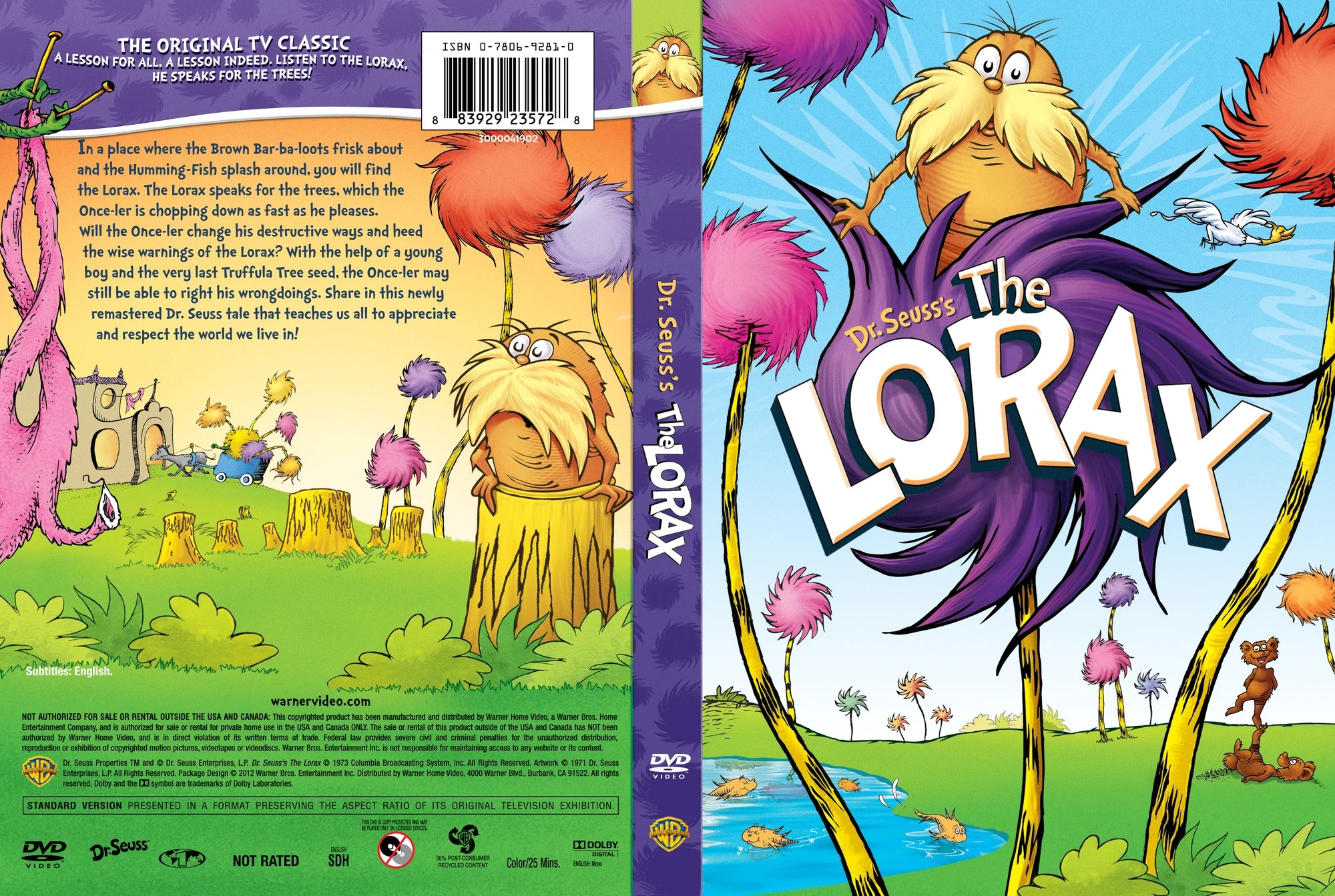 The Lorax Dr Seusss Deluxe Edition DVD Database