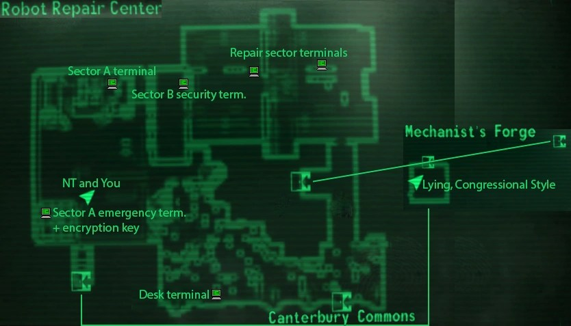 Image Robot Repair Center Mappng Fallout Wiki FANDOM Powered By Wikia