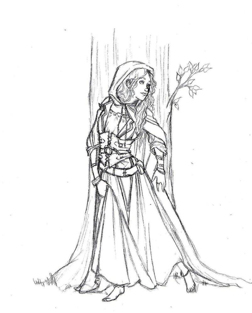 Image Medieval Princess Coloring Pages Friendo Fiction