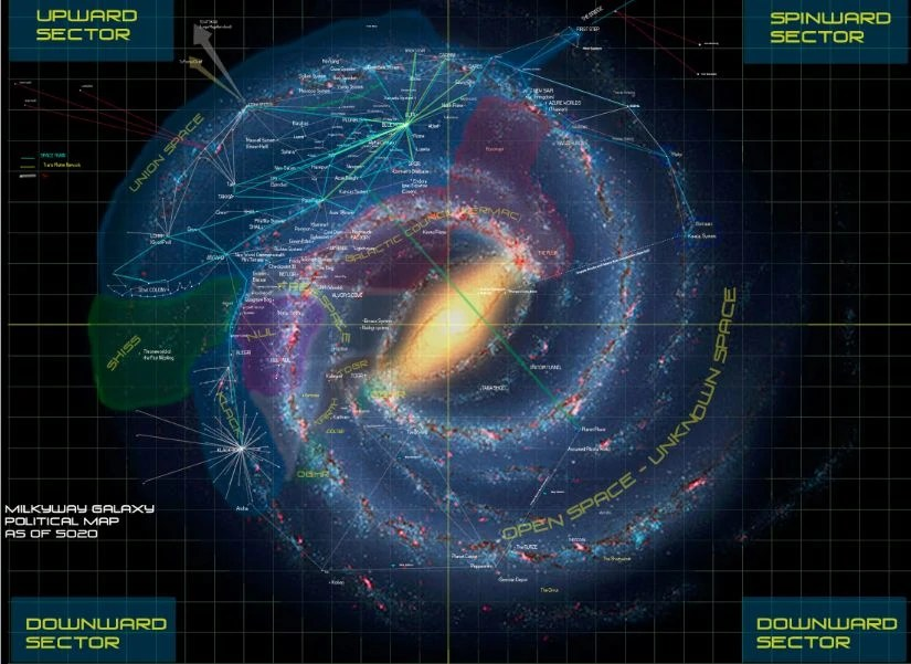 Milky way galaxy map planets pictures and ideas on nervesa - Galaxy and planets ...