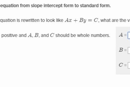 Free Forms 2018 Convert Slope Intercept To Standard Form Free Forms