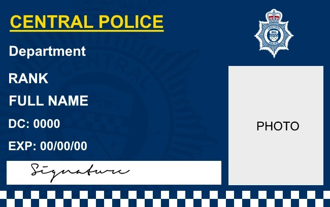 Cards Templates Id Blank Police