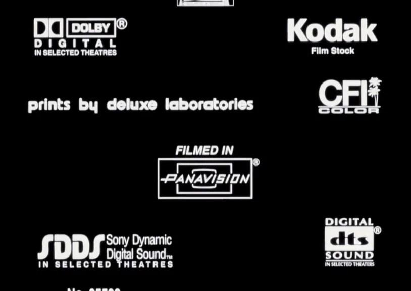 Prints By Deluxe Credits: Digital Dts Sdds Mpaa Iatse Kodak Dolby