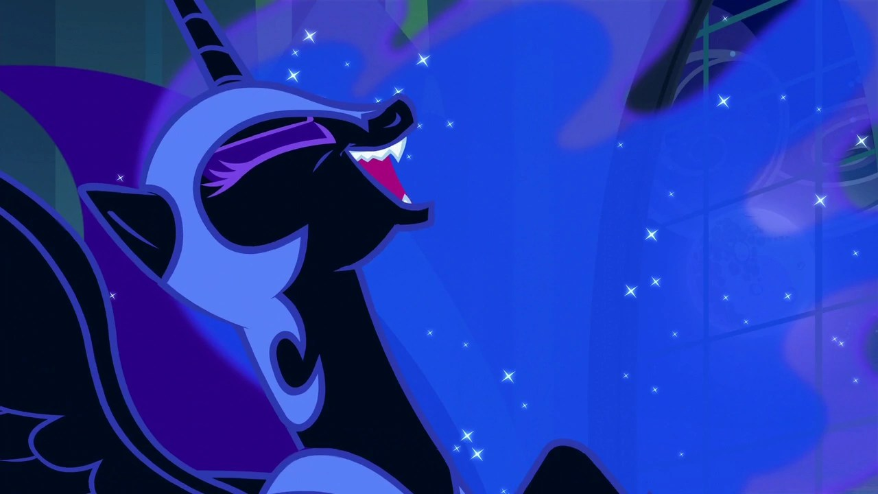 Image Nightmare Moon laughing S5E26png My Little Pony