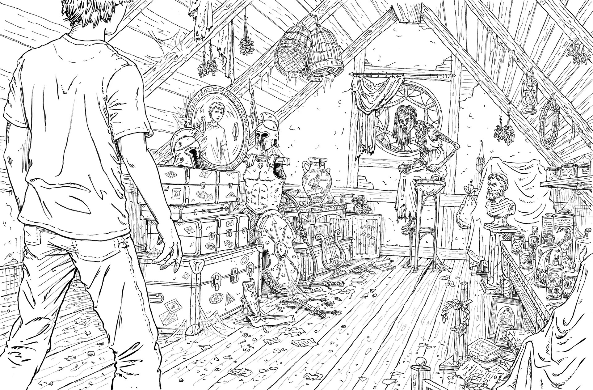 Olympus Coloring Pages Heroes