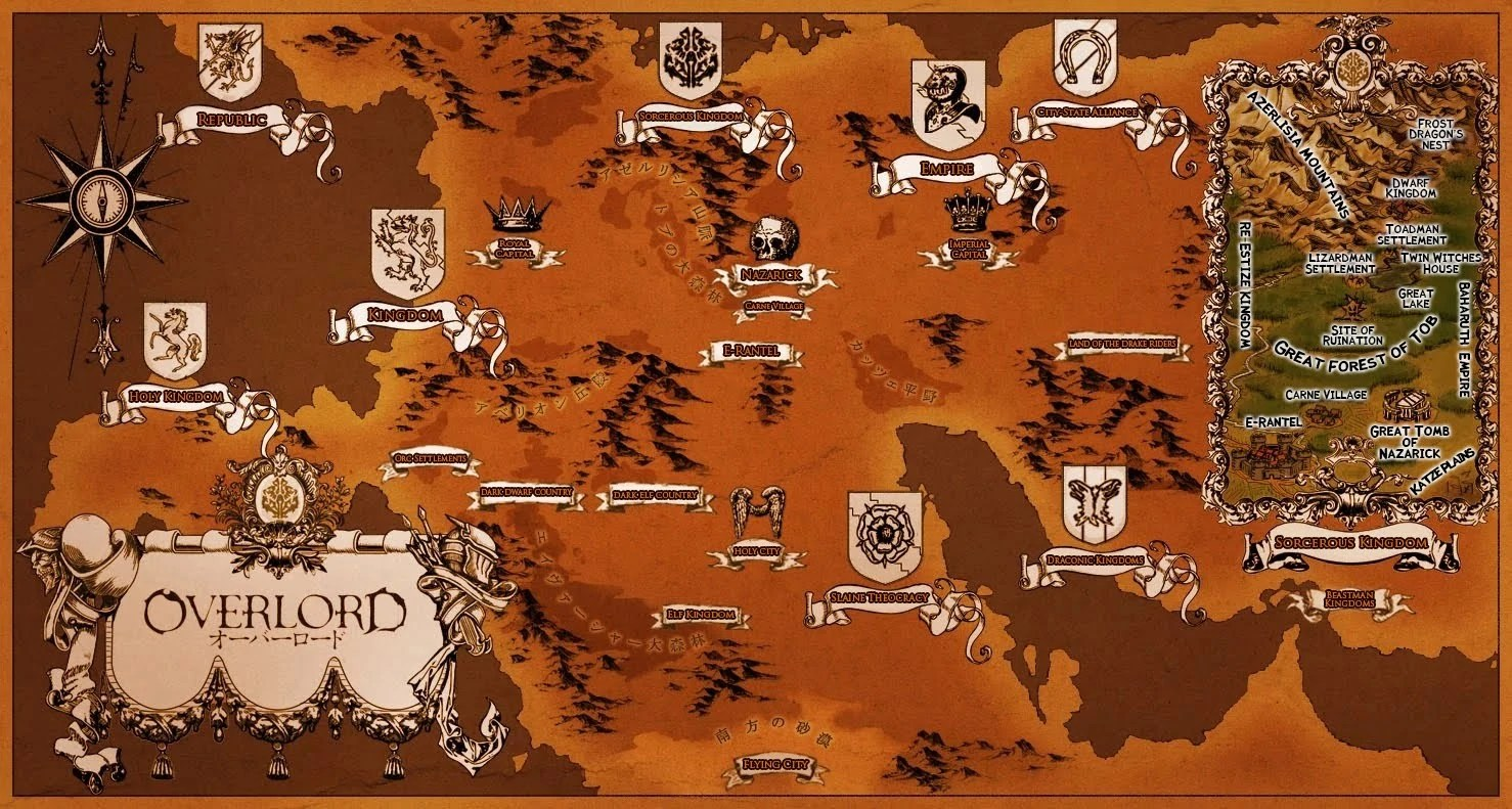 Image   Overlord New World Map jpg   Overlord Wiki   FANDOM powered     Overlord New World Map jpg