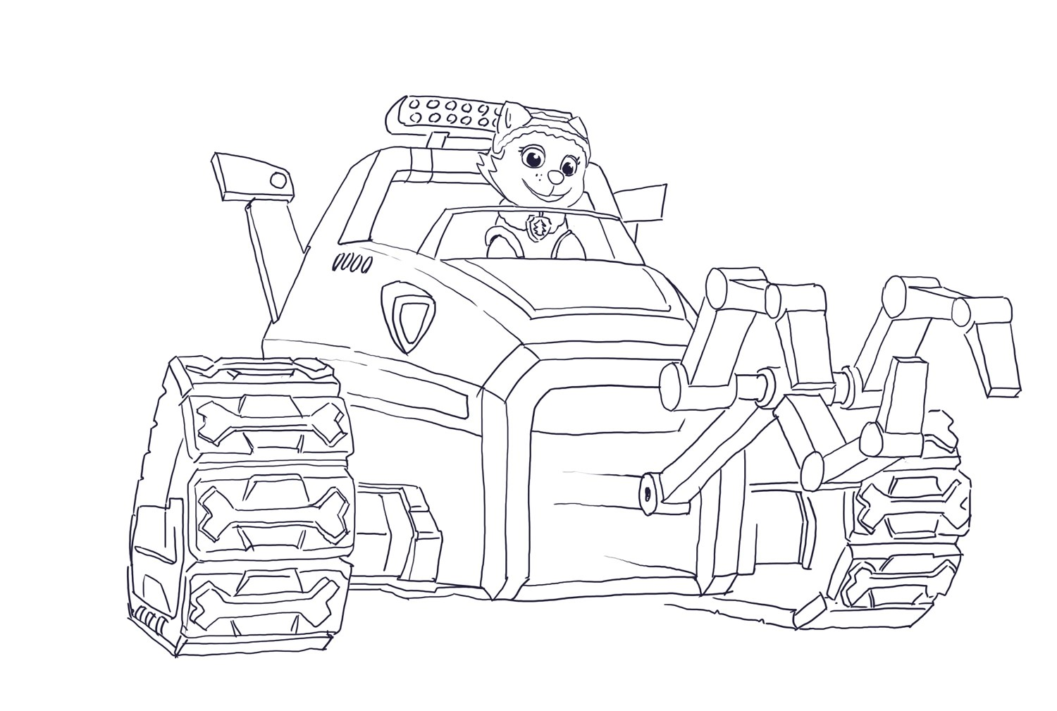 Hd Wallpapers Paw Patrol Lookout Coloring Pages Hdigdg