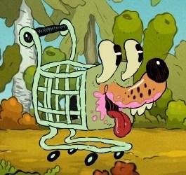 Shopping Cart Dog | Pig Goat Banana Cricket Wiki | FANDOM ...