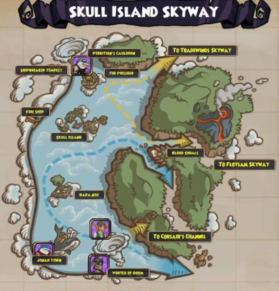 Image    Map  Skull Island Skyway png   Pirate 101 Wiki   FANDOM      Map  Skull Island Skyway png