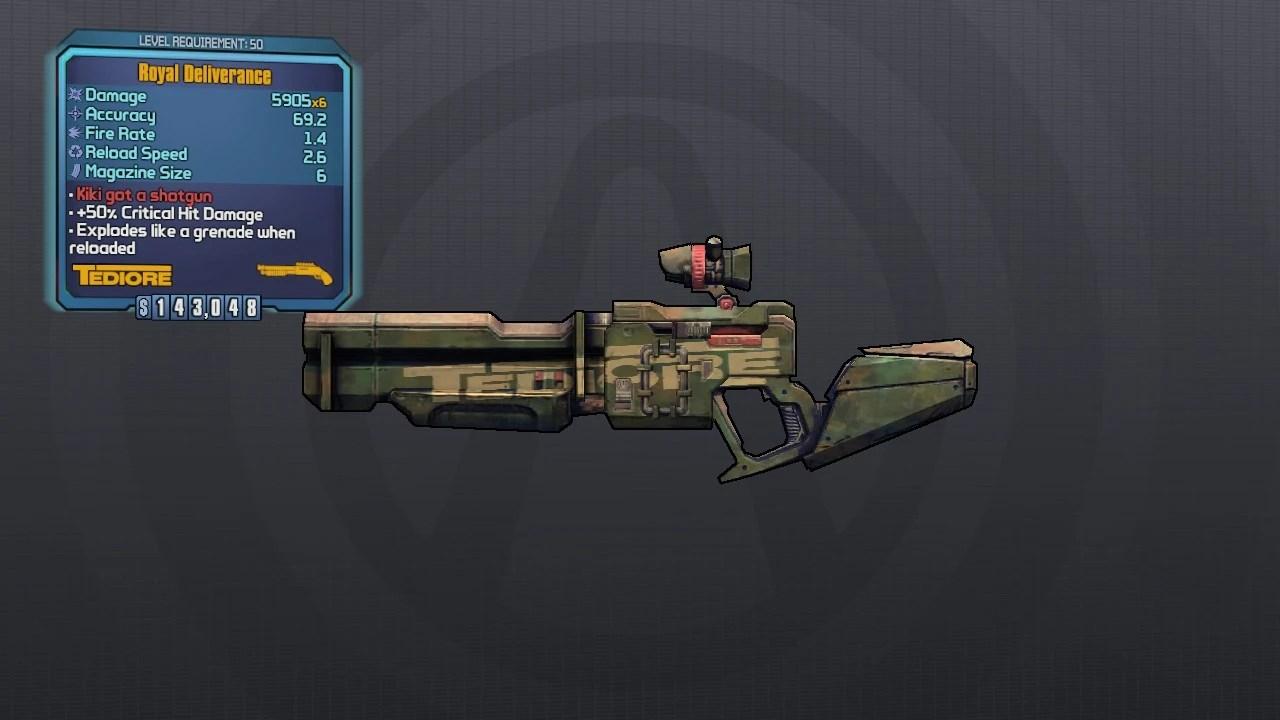 Weapon Locations E Tech 2 Borderlands