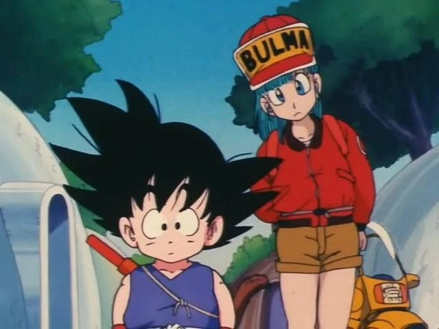 Image - Goku and Bulma Looking In preists door.jpg ...