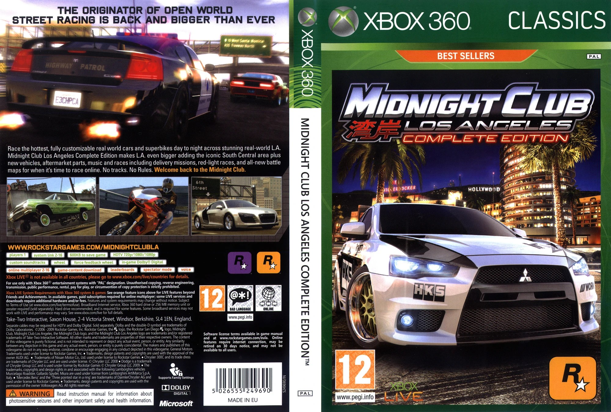 Midnight Club Los AngelesCovers Midnight Club Wiki