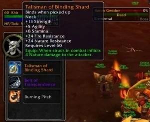 Talisman Of Binding Shard WoWWiki FANDOM Powered By Wikia
