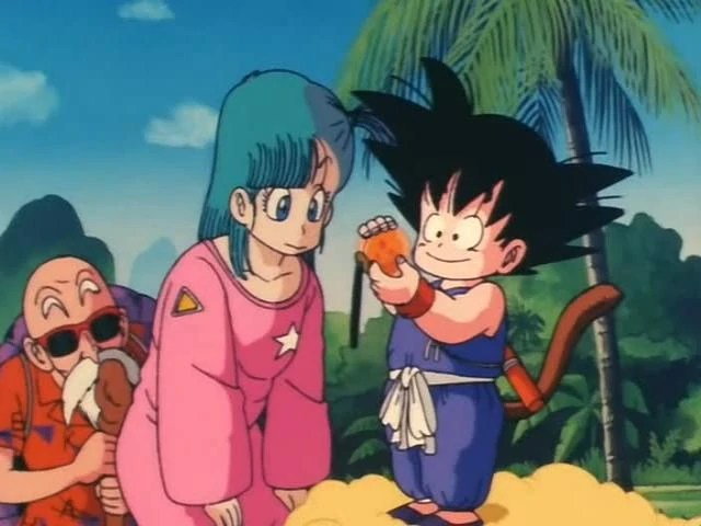 Image - Goku and bulma with the 3 star ball.jpg | Dragon ...