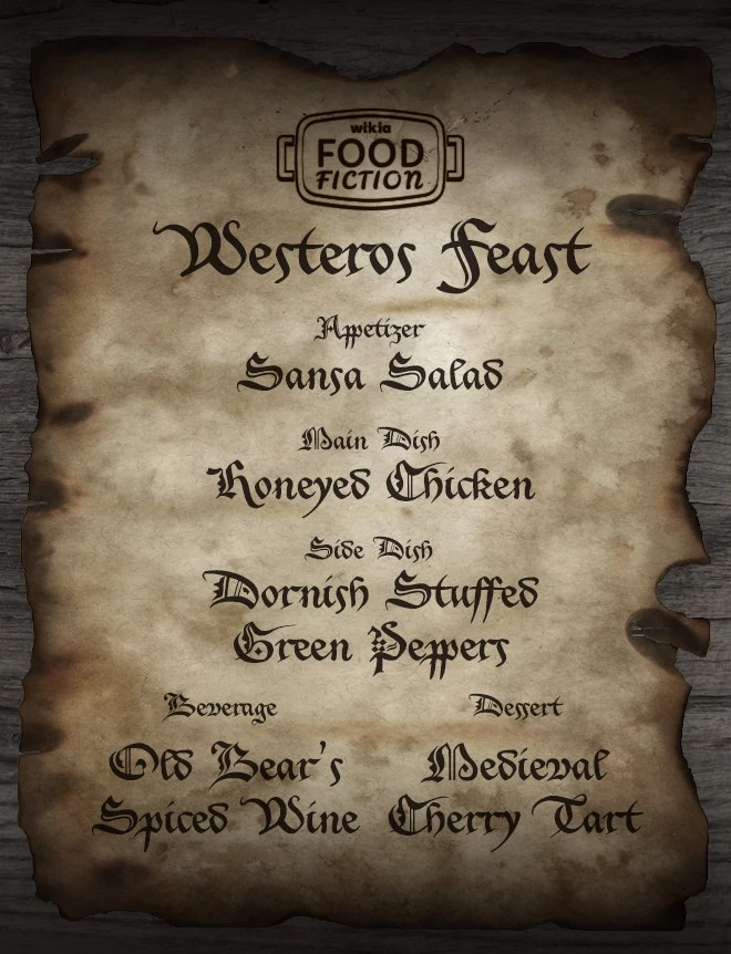 User BlogGcheung28Food Fiction A Westeros Feast A Song Of Ice And Fire Wiki FANDOM