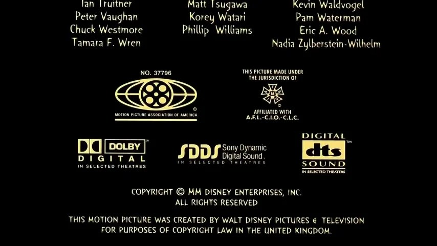 Mpaa Credits: Prints By Technicolor Mpaa Credits