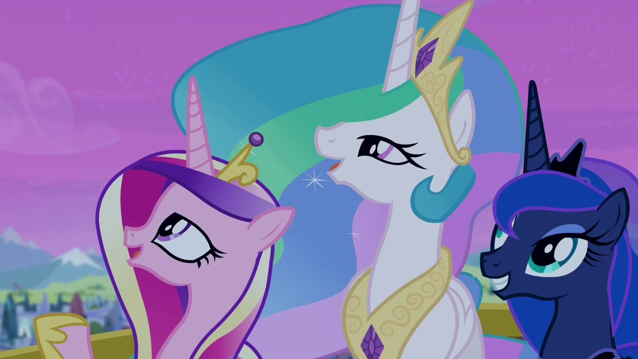 Image Celestia Luna And Cadance Looking At The Sky