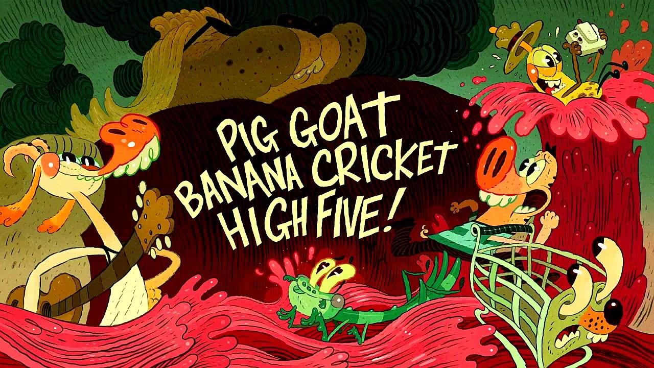 Pig Goat Banana Cricket High Five! | Pig Goat Banana ...