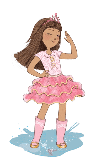 Hair Girl Short Brown Characters Cartoon