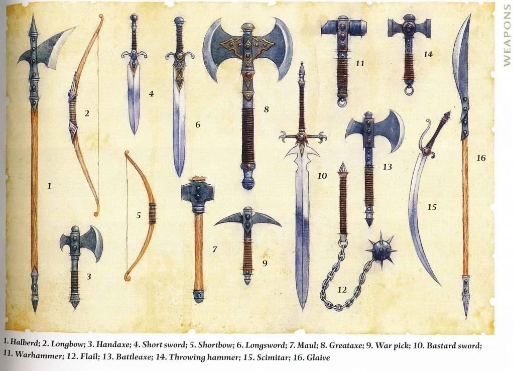 Afbeeldingsresultaat voor dnd weapons