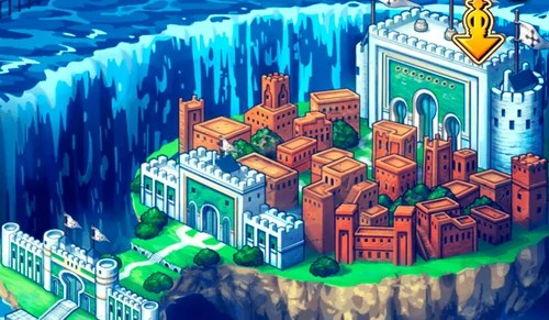 Wallpaper from the enies lobby arch. Enies Lobby Front Gate | One Piece Treasure Cruise Wiki ...