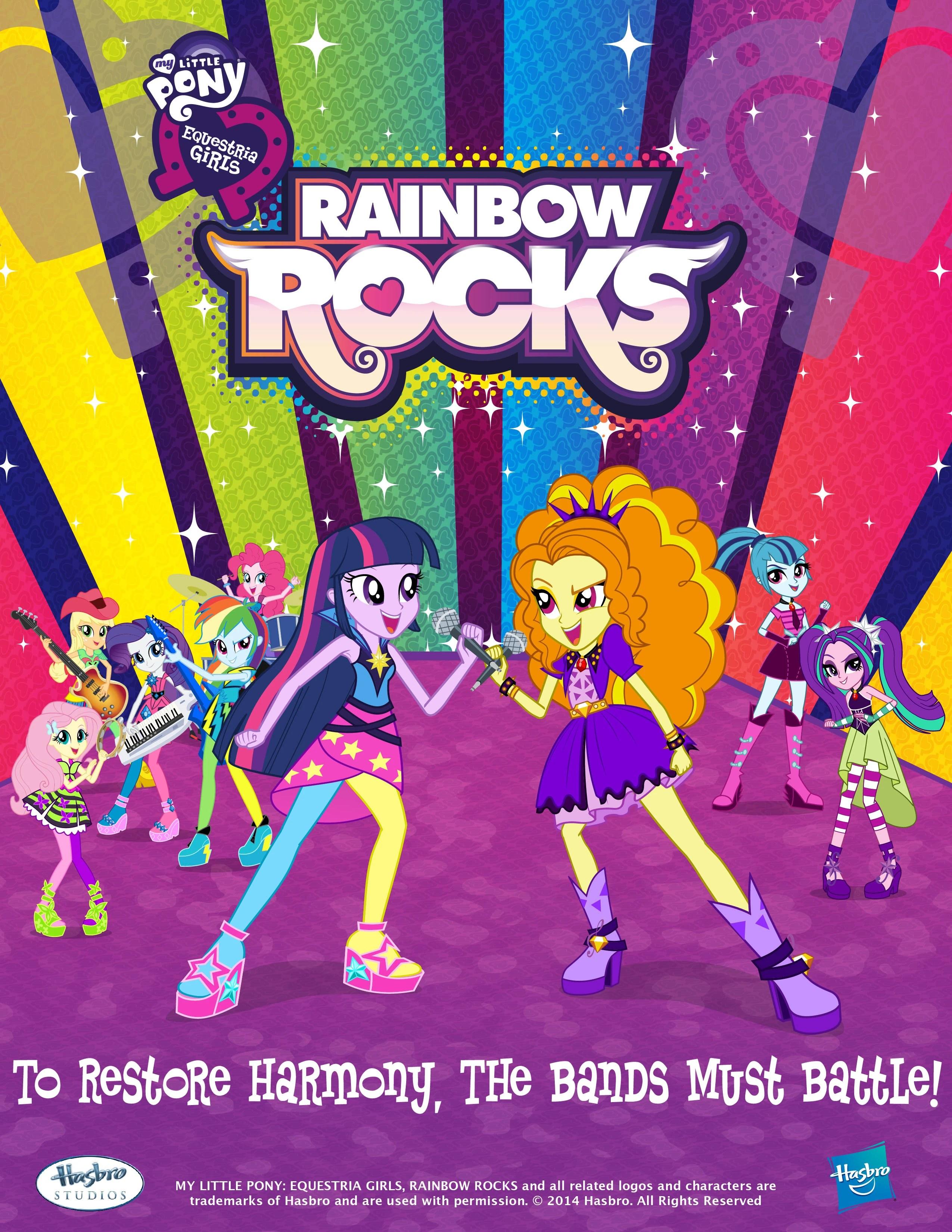 Poster do filme My Little Pony: Garotas de Equestria - Rainbow Rocks