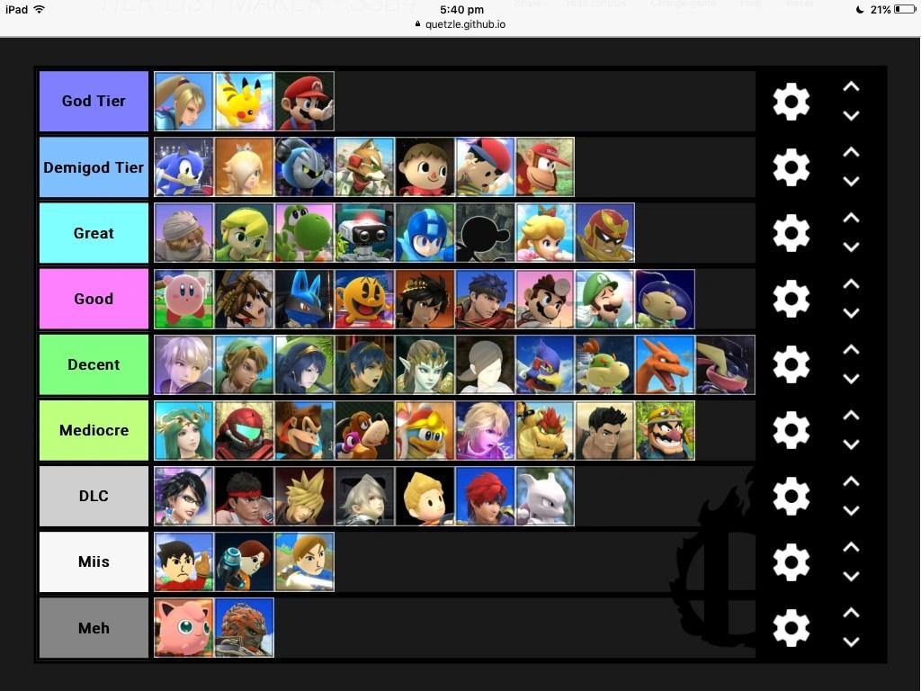 User BlogKirbiMiroirNew Tier List Smashpedia Fandom