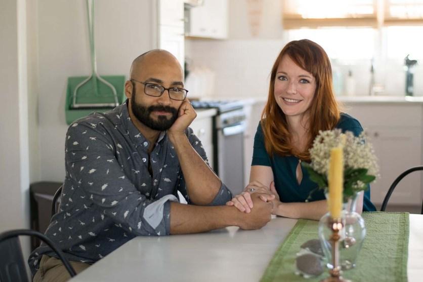 Jason and Stephanie at their dining room table.