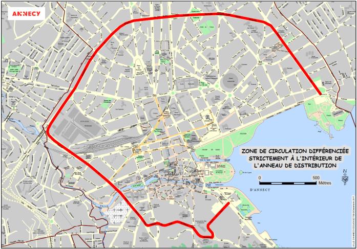 zone de circulation différenciée Annecy Haute savoie