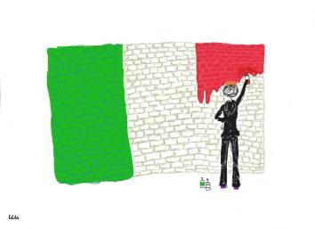 I simboli acquistano ancor più valore, se si arricchiscono degli ideali e dell'esperienza delle persone. Per Lucia Coviello, la bandiera è ancora in parte da dipingere.