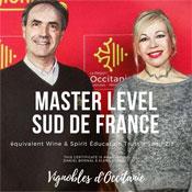 Vignobles d'Occitanie - Intervenants certifiés Master Level Sud de France