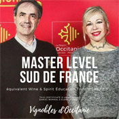 Vignobles d'Occitanie - Intervenants certifiés Master Level Sud de France