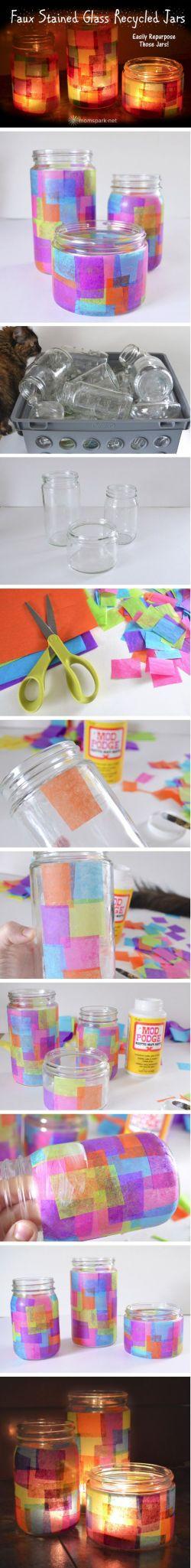 baby food jar upcycles